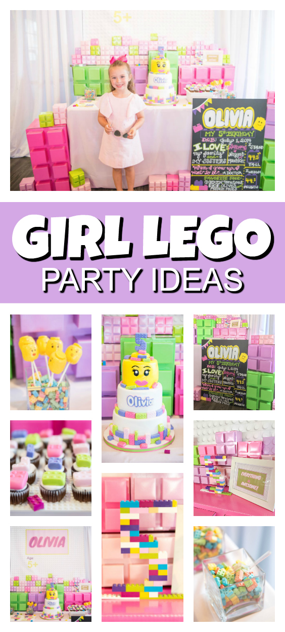 Girl Themed Lego Party on Pretty My Party