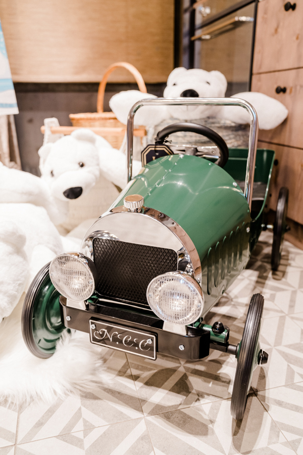 Baby's Green Vintage Toy Car Gift