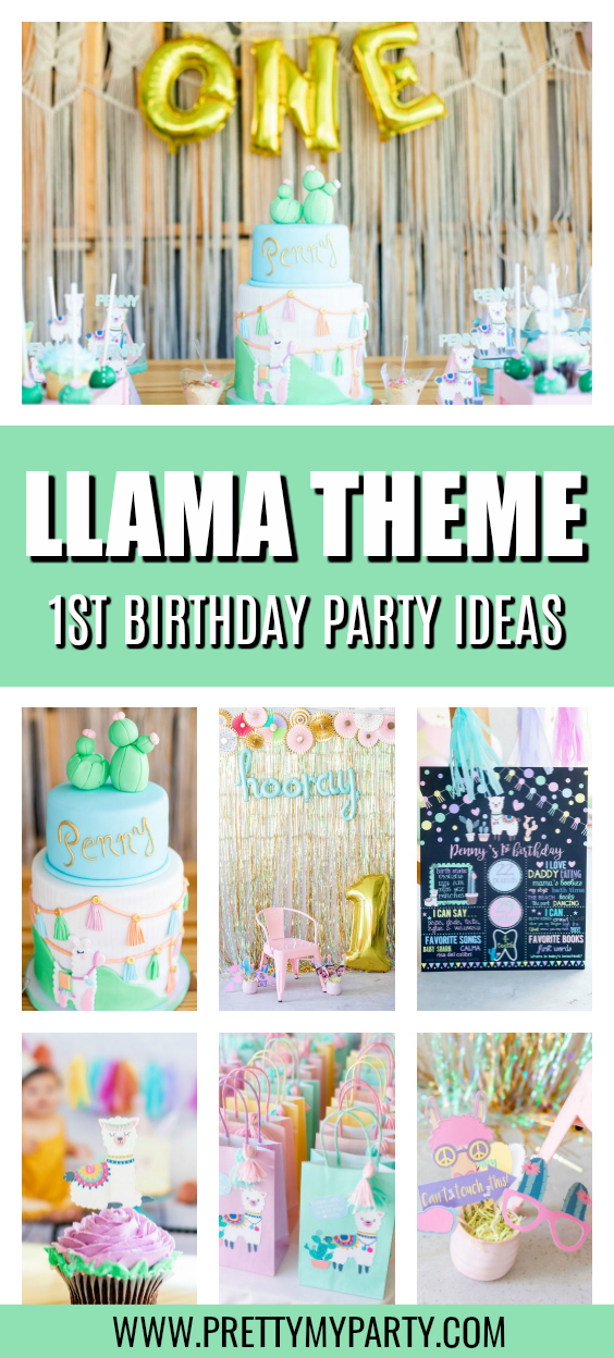 Llama Themed 1st Birthday Party on Pretty My Party