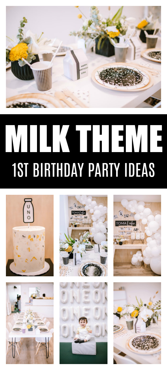 Milk Themed 1st Birthday Party on Pretty My Party