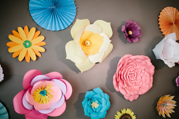 Colorful Paper Flower Decorations