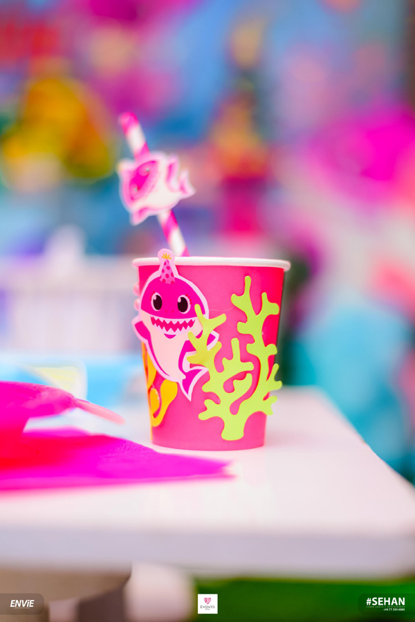 DIY Baby Shark Party Cup