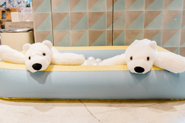 Plush Polar Bears In A Pool Decoration