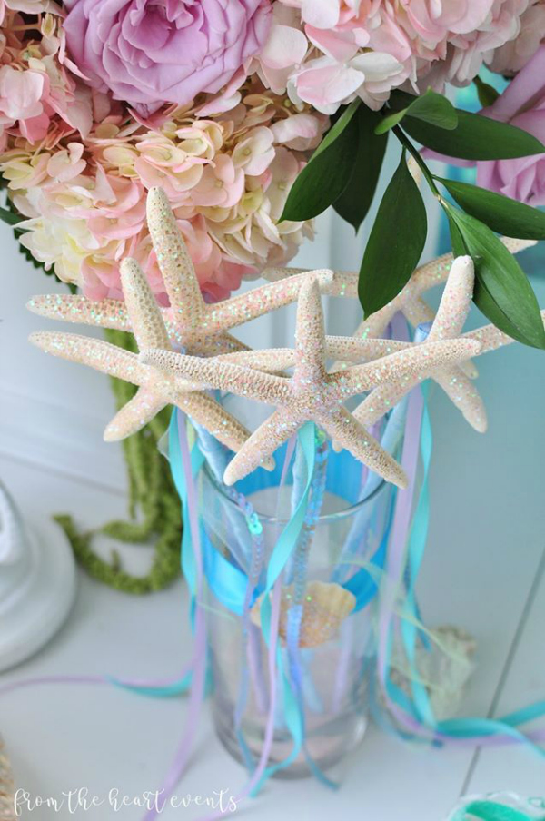 Sparkly Starfish Wands