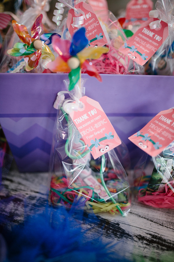 Trolls Party Favor Tags