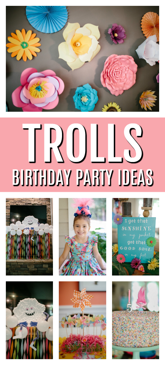 Trolls Themed Birthday Party on Pretty My Party