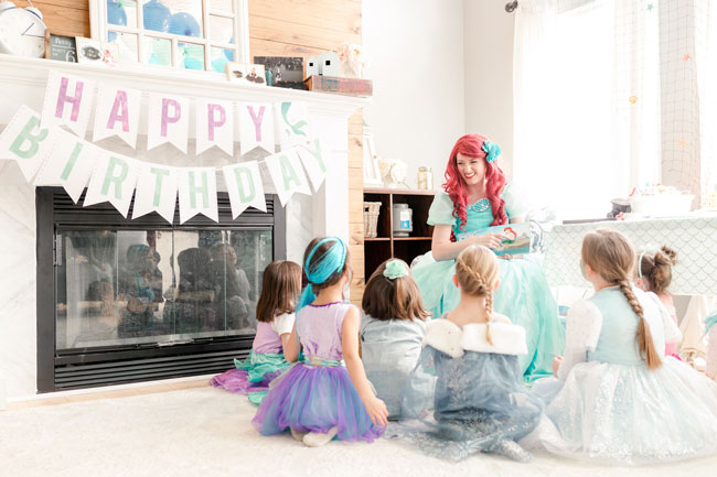 Ariel Under the Sea Birthday Party Story Time