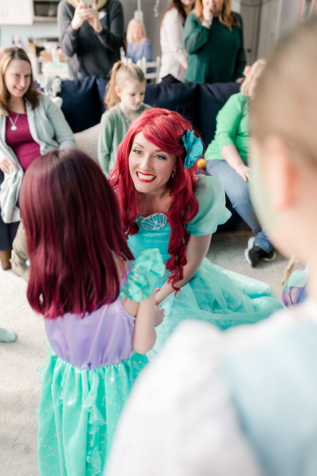 Ariel Under the Sea Birthday Party Character Visit