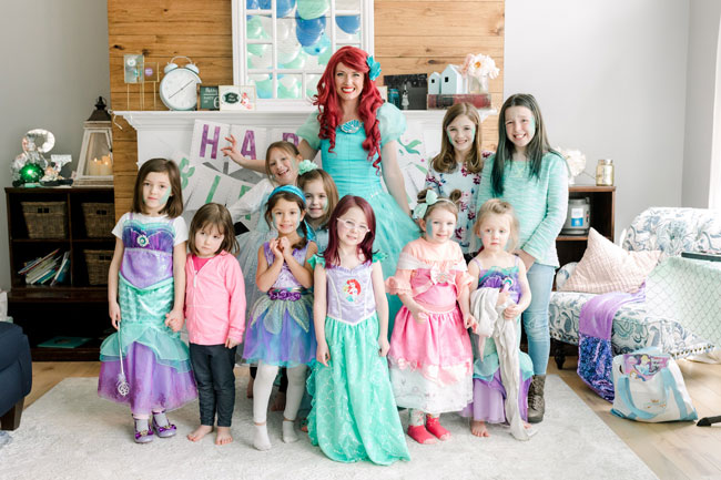 Ariel Party Ideas at home