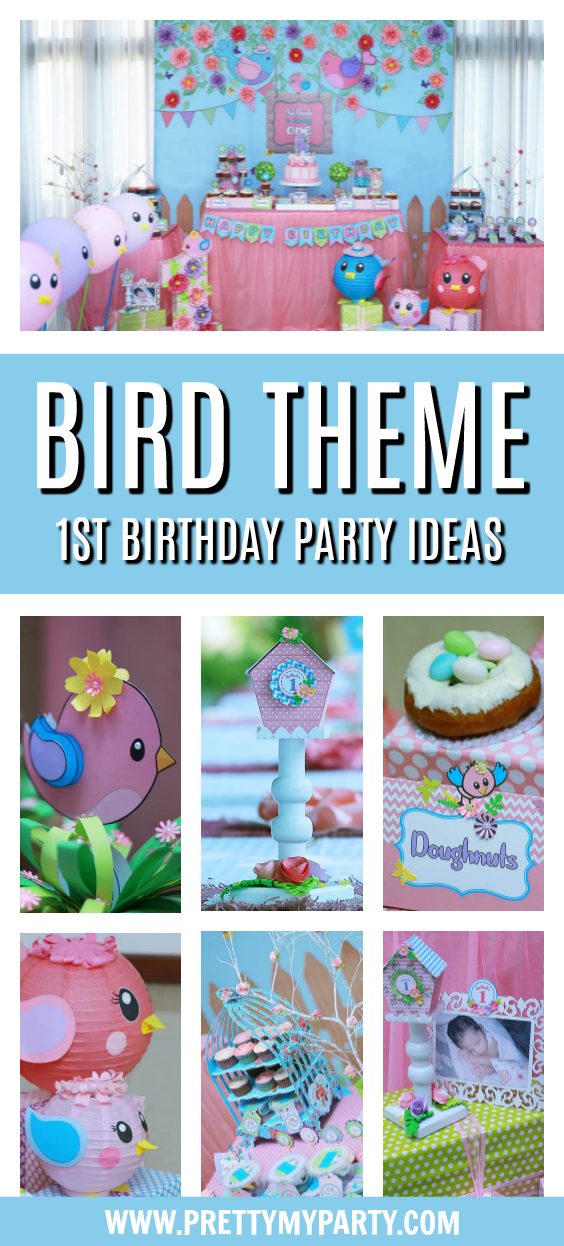 Bird Themed 1st Birthday Party on Pretty My Party