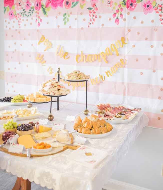 Tea Party Bridal Shower Backdrop and Banner