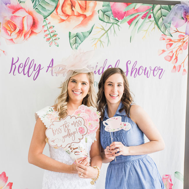 Tea Party Bridal Shower Photo Booth