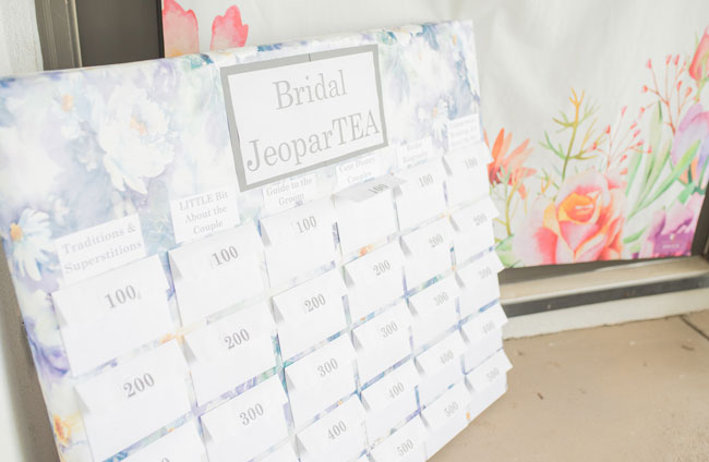 Bridal JeoparTEA game