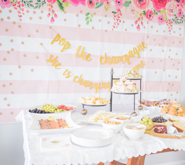 Tea Party Bridal Shower Food Table