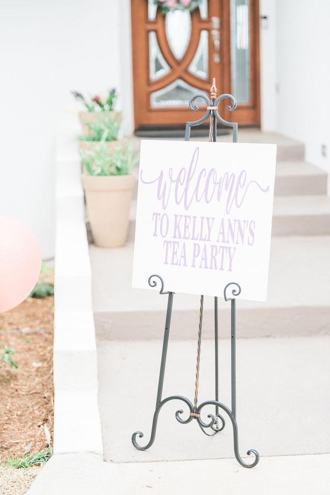 Tea Party Bridal Shower Welcome Sign