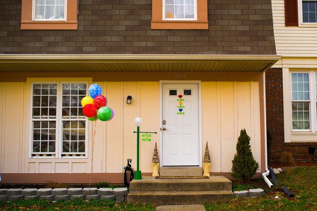 Sesame Street Party Balloons and Welcome Signs