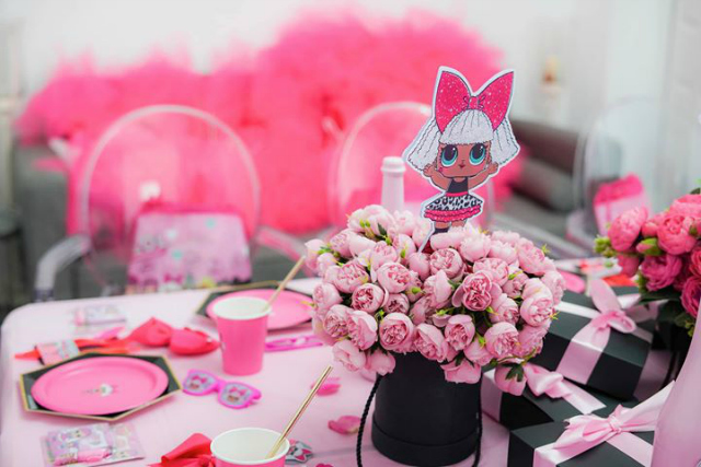 Pink Flower Centerpiece