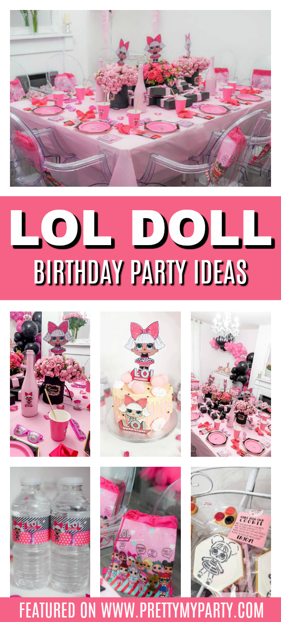 LOL Surprise Doll Themed Party on Pretty My Party