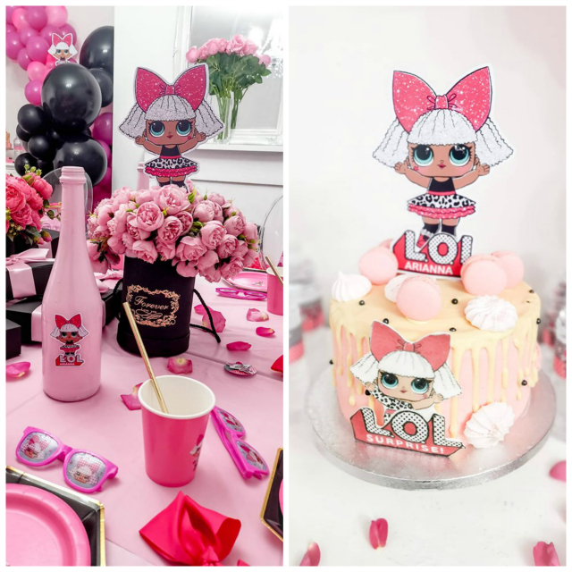 LOL Doll Cake and Centerpiece
