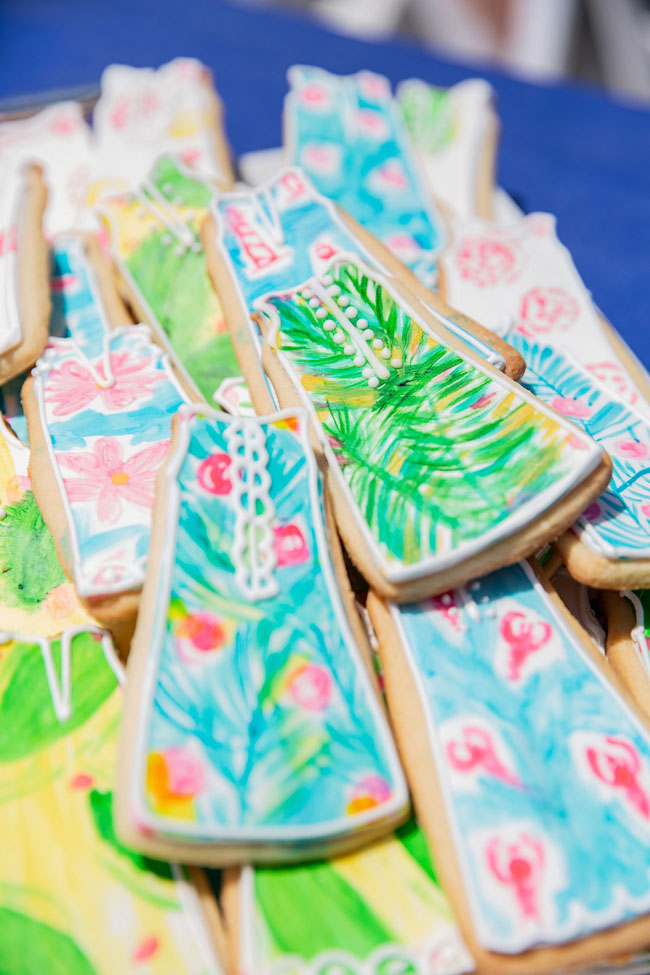 Lily Pulitzer Themed Cookies