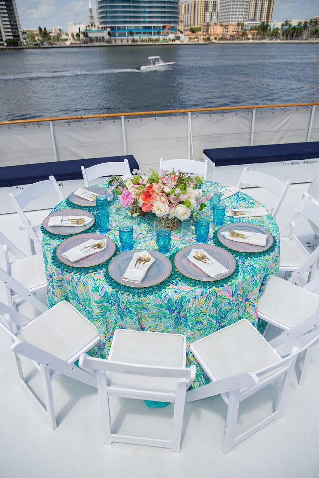 Lily Pulitzer Themed Birthday Table