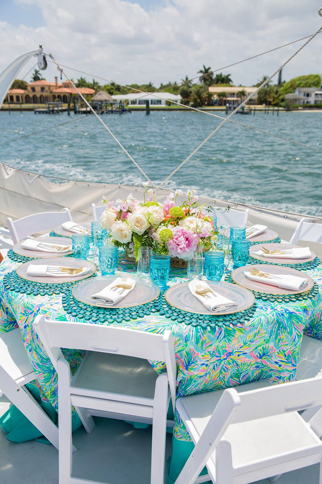 Lily Pulitzer Themed Party Table