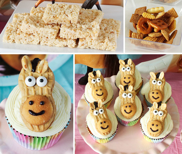 Spirit Horse Party Food and Horse Cupcakes