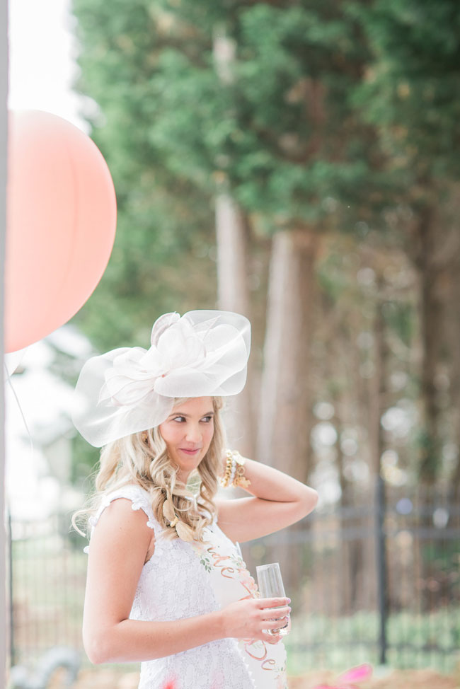 Tea Party Bridal Shower Outfit and Hat