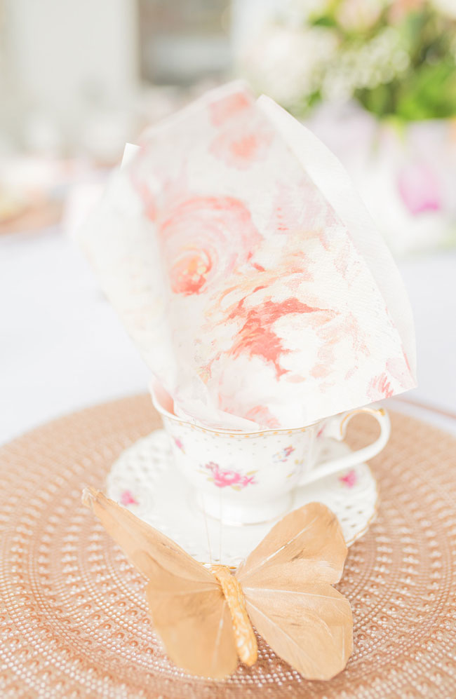 Tea Party Bridal Shower Place Setting