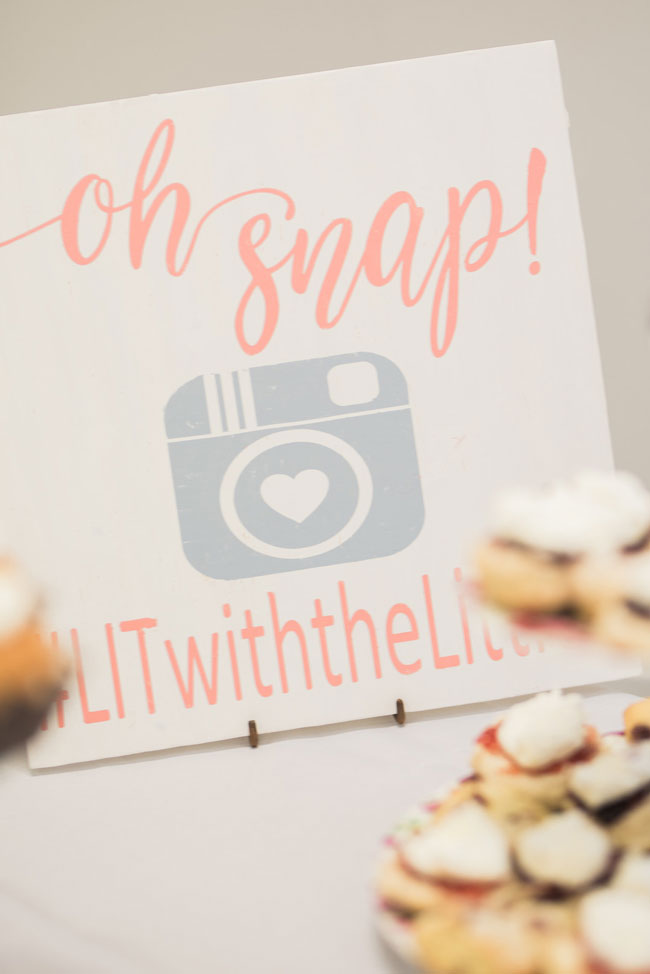 Bridal shower tea party Instagram Hashtag Sign