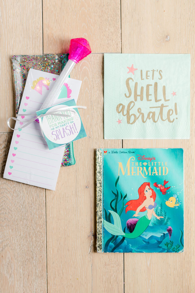 Ariel Under the Sea Birthday Party Favors