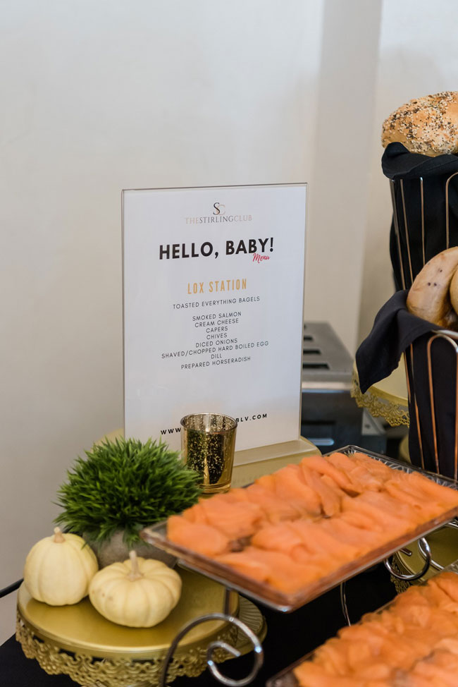 Baby Shower Brunch Lox Station