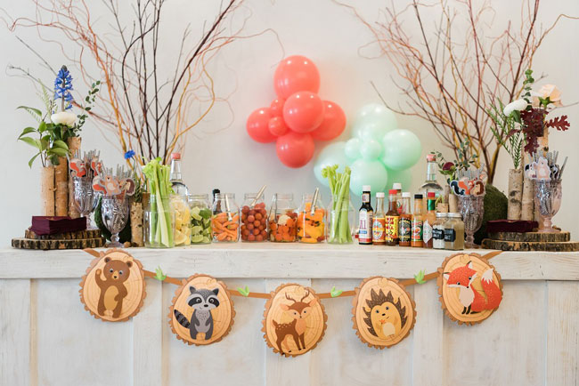 Woodland Animal Baby Shower Banner