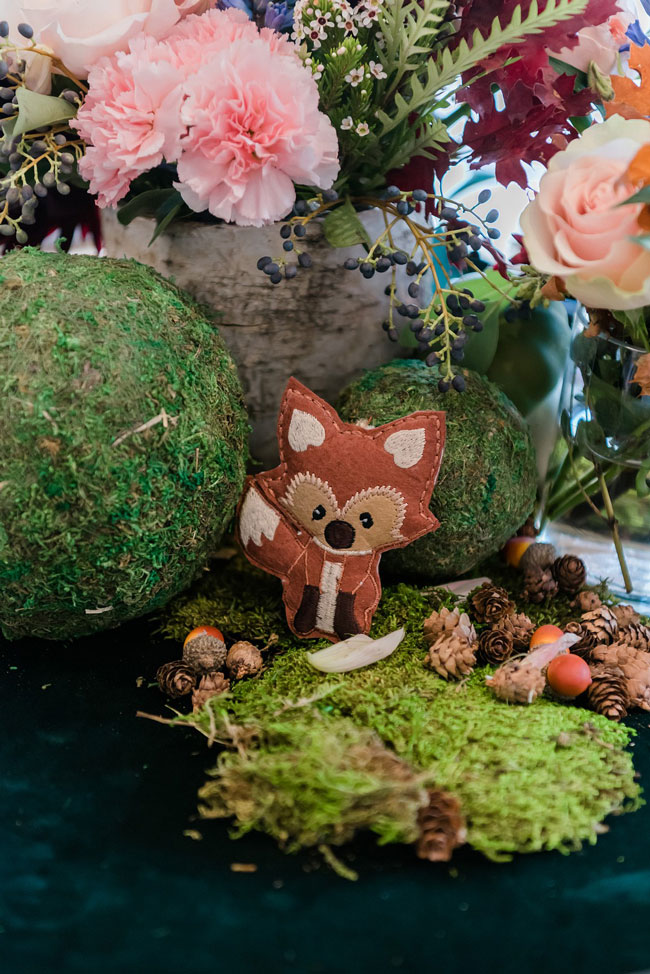Woodland Animal Baby Shower Centerpiece