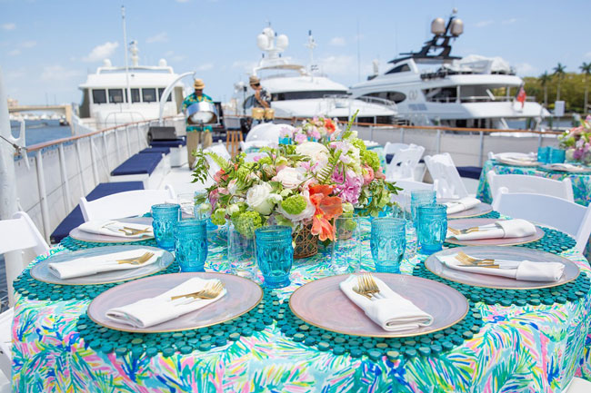 Lily Pulitzer Themed Tablescape