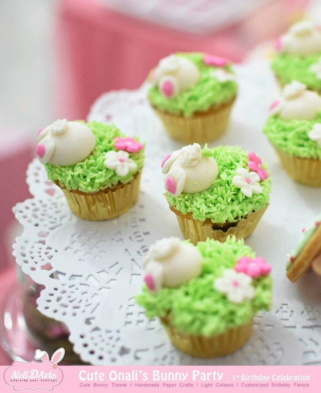 Adorable Bunny Butt Cupcakes