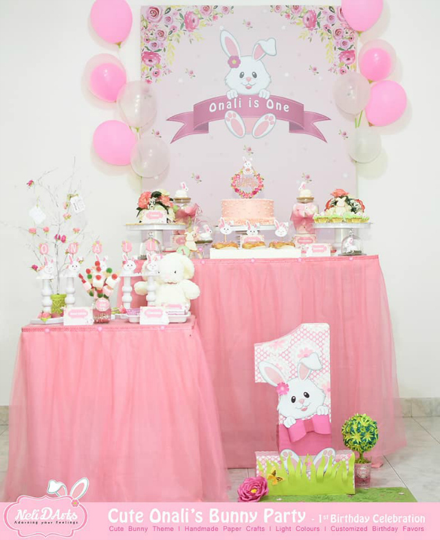 Bunny Themed Dessert Table