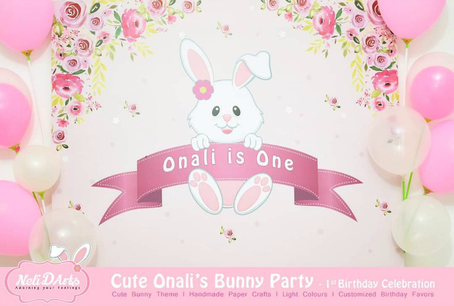Personalized Bunny Party Backdrop