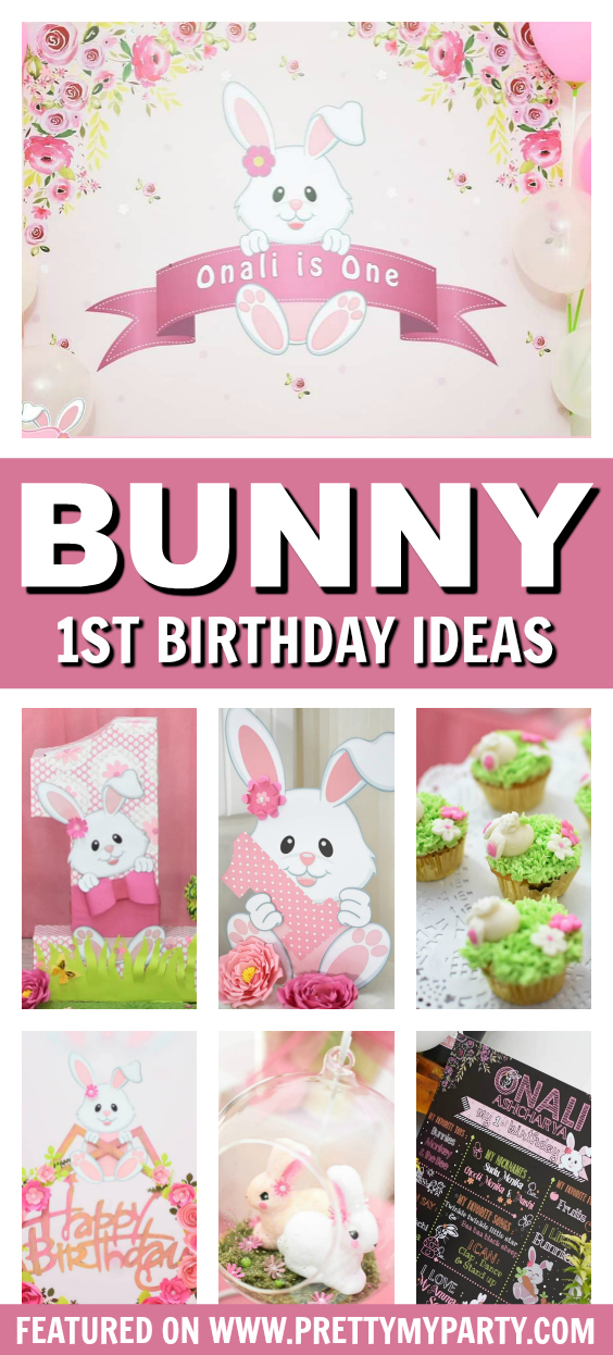 Bunny Themed 1st Birthday Party on Pretty My Party