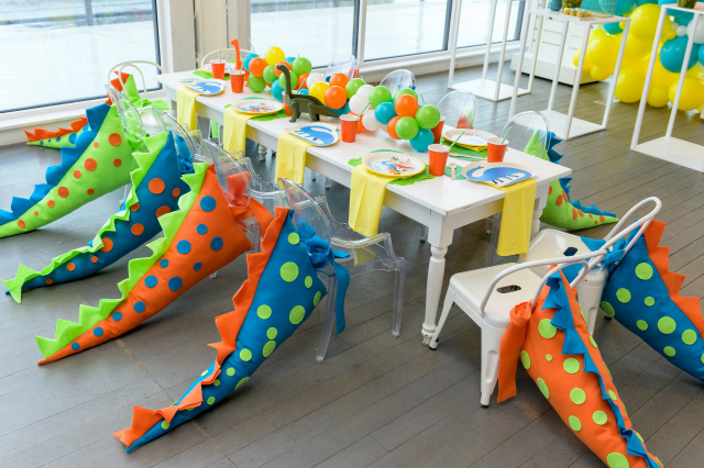 Dinosaur Birthday Table and Dino Tails
