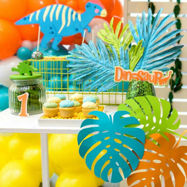 Colorful Dino Party Decorations