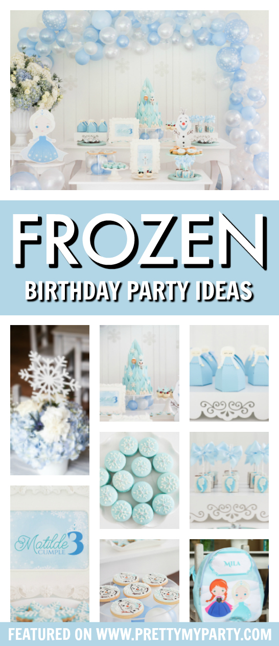 Frozen Themed 3rd Birthday Party on Pretty My Party
