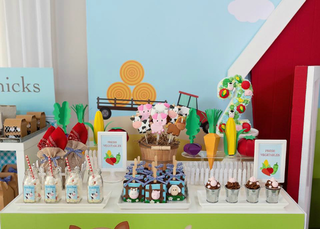 Farm Themed Party Desserts