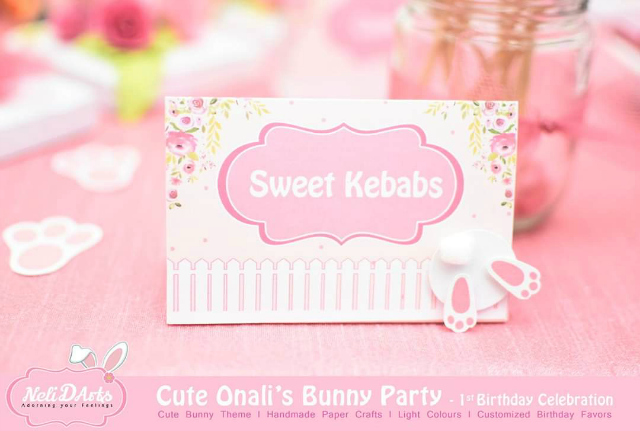 Bunny Food Tent Cards