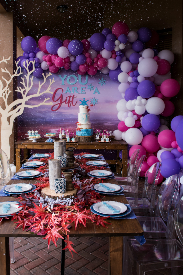 Frozen 2 Themed Birthday Party with snow