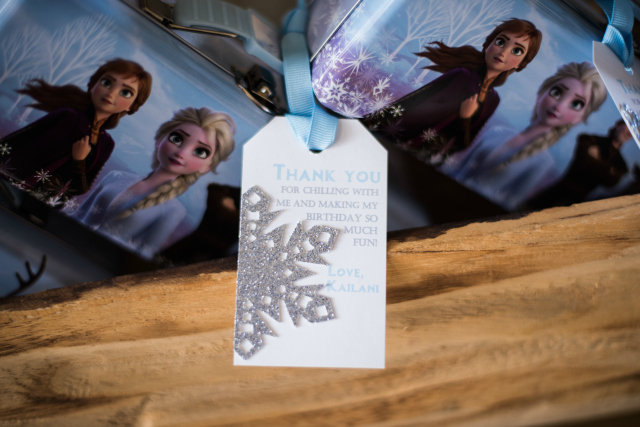 Frozen Party Thank You Tags