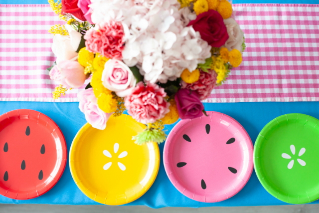 Tutti Frutti Fruit Party Plates