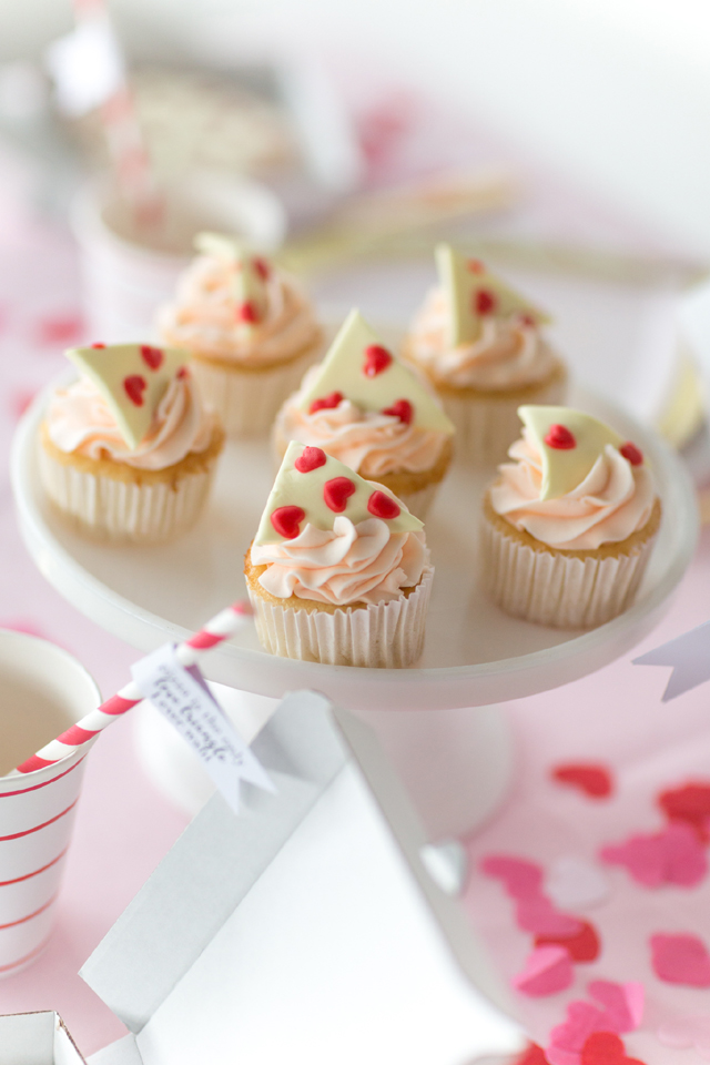 Heart Pizza Cupcake Toppers