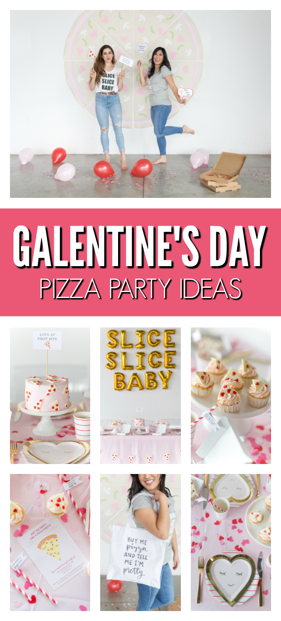 Galentine's Day Pizza Party Ideas on Pretty My Party
