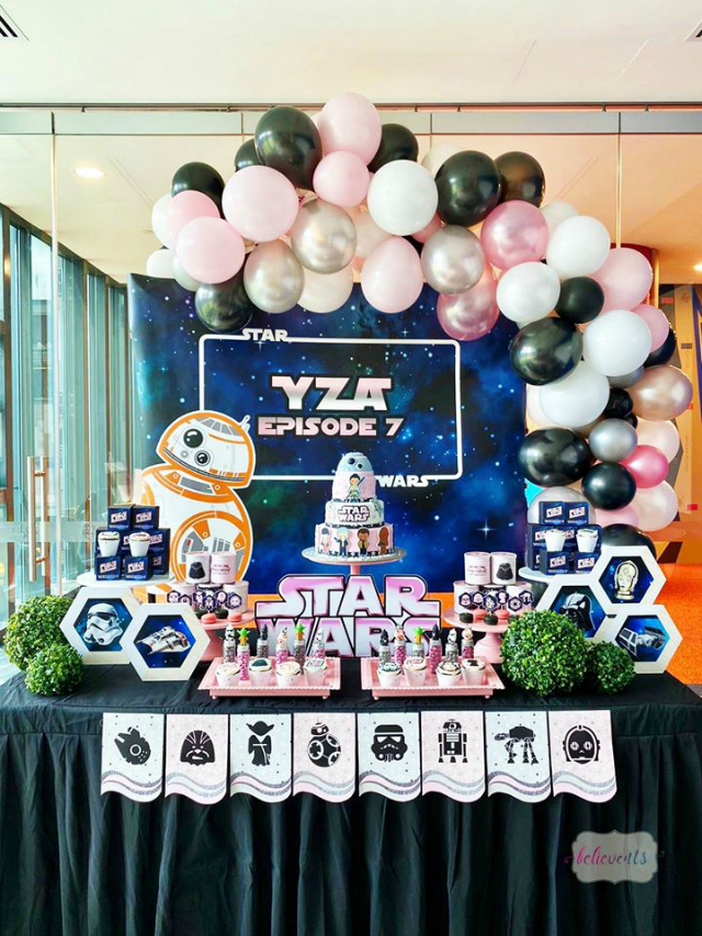 Girls Star Wars Party Dessert Table